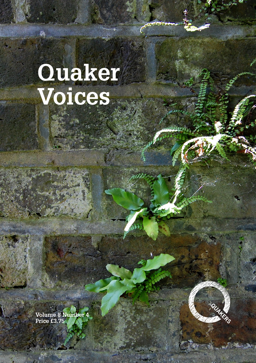 Quaker Voices cover showing abstract design