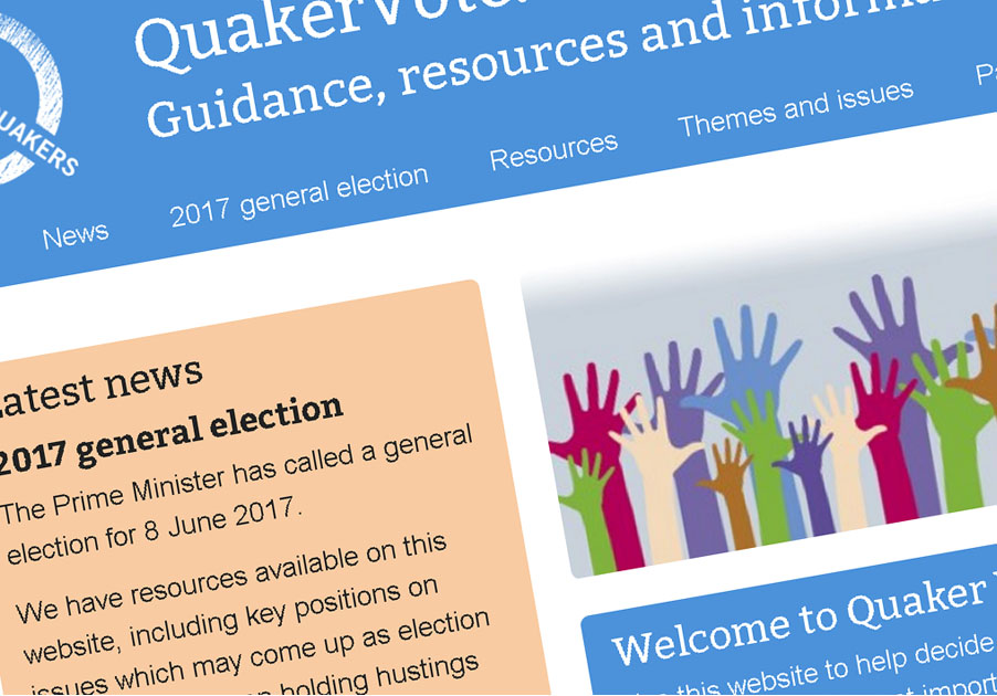 Image of the Quaker Vote website