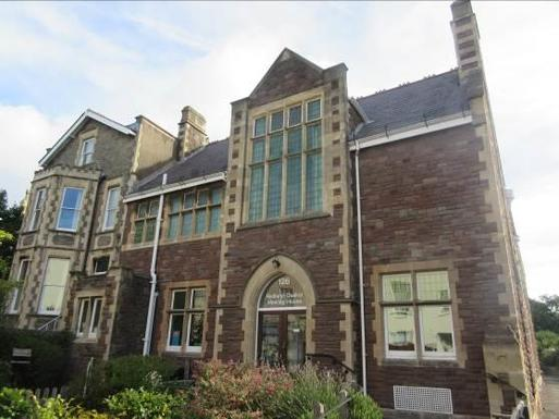 Substantial brick built house with beautiful entrance and spacious meeting room.