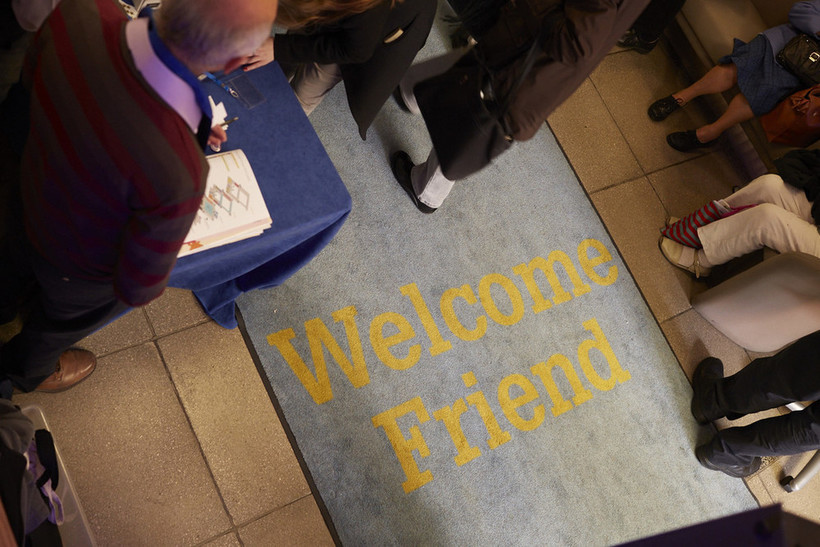 Welcome Friend. Photo: Mike Pinches for Quakers in Britain