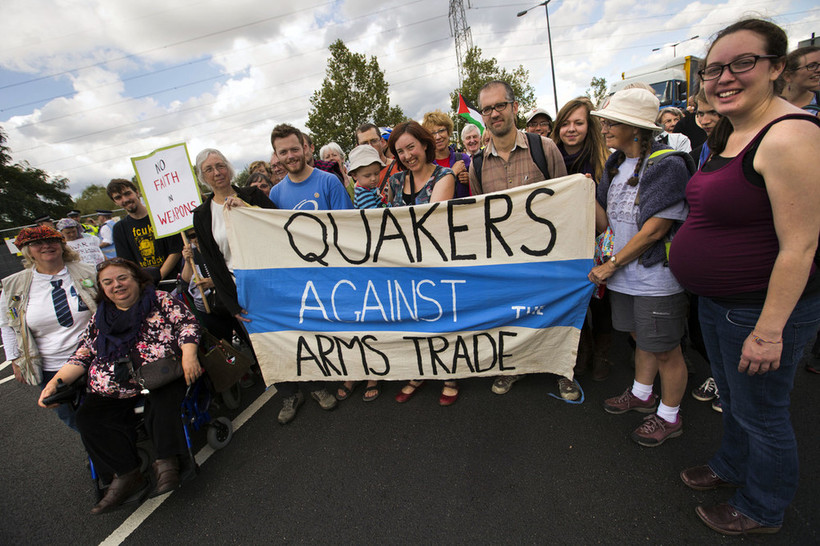 Quakers against the arms trade. © Jess Hurd