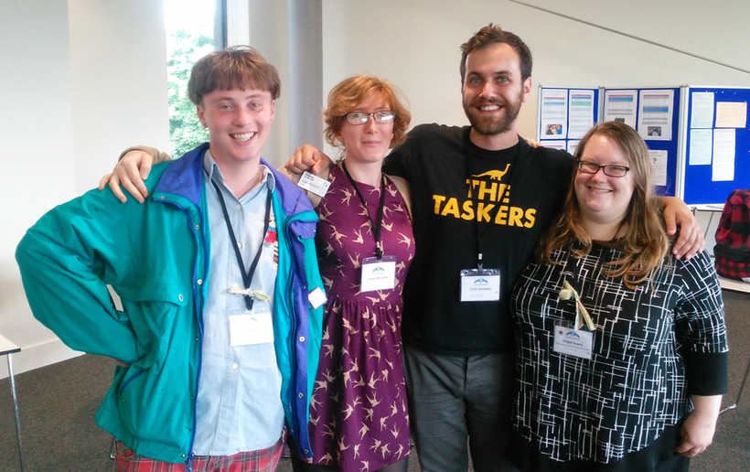 Young adult Quakers at an annual Quaker event.