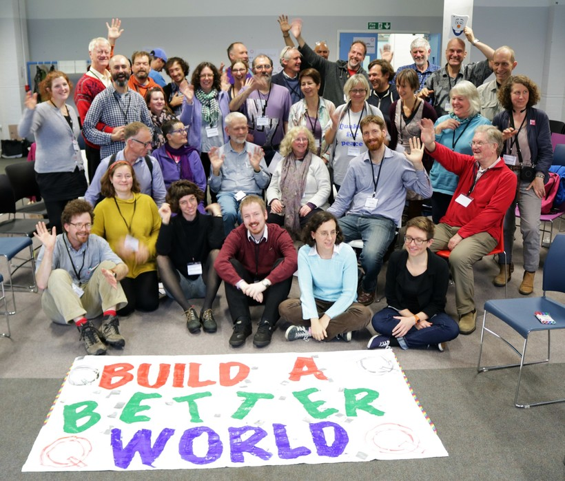 Participants at the close of the Quaker Activist Gathering 2017. Photo: BYM
