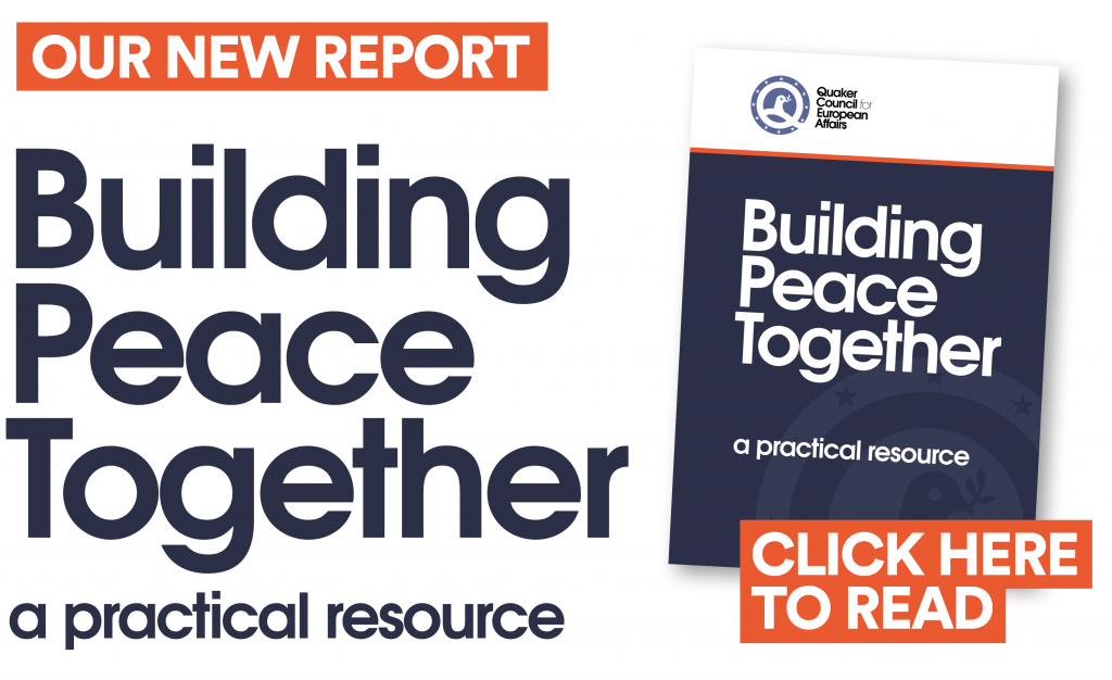 Front page of booklet Building Peace Together