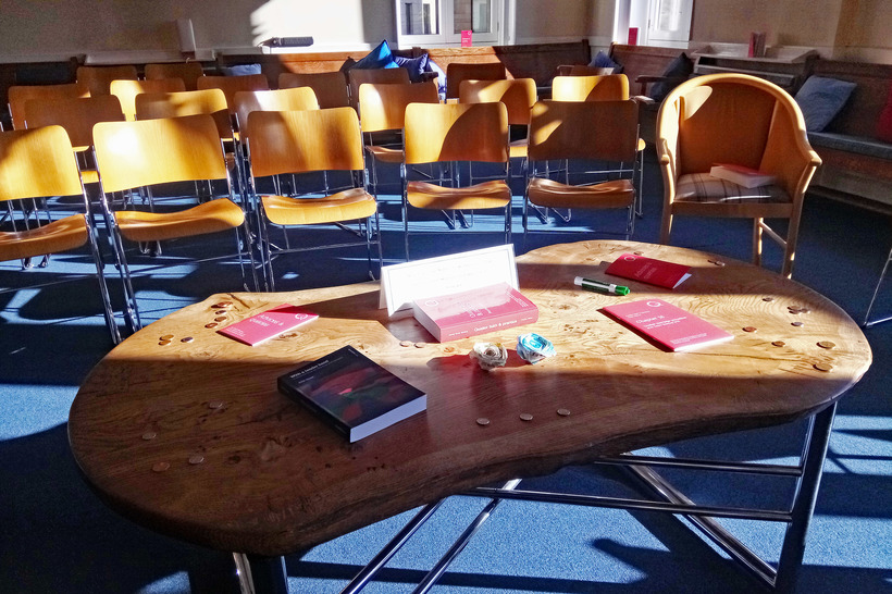 The first Patterns and Examples event took place at Central Edinburgh Quaker Meeting House. Image: Oliver Waterhouse for BYM