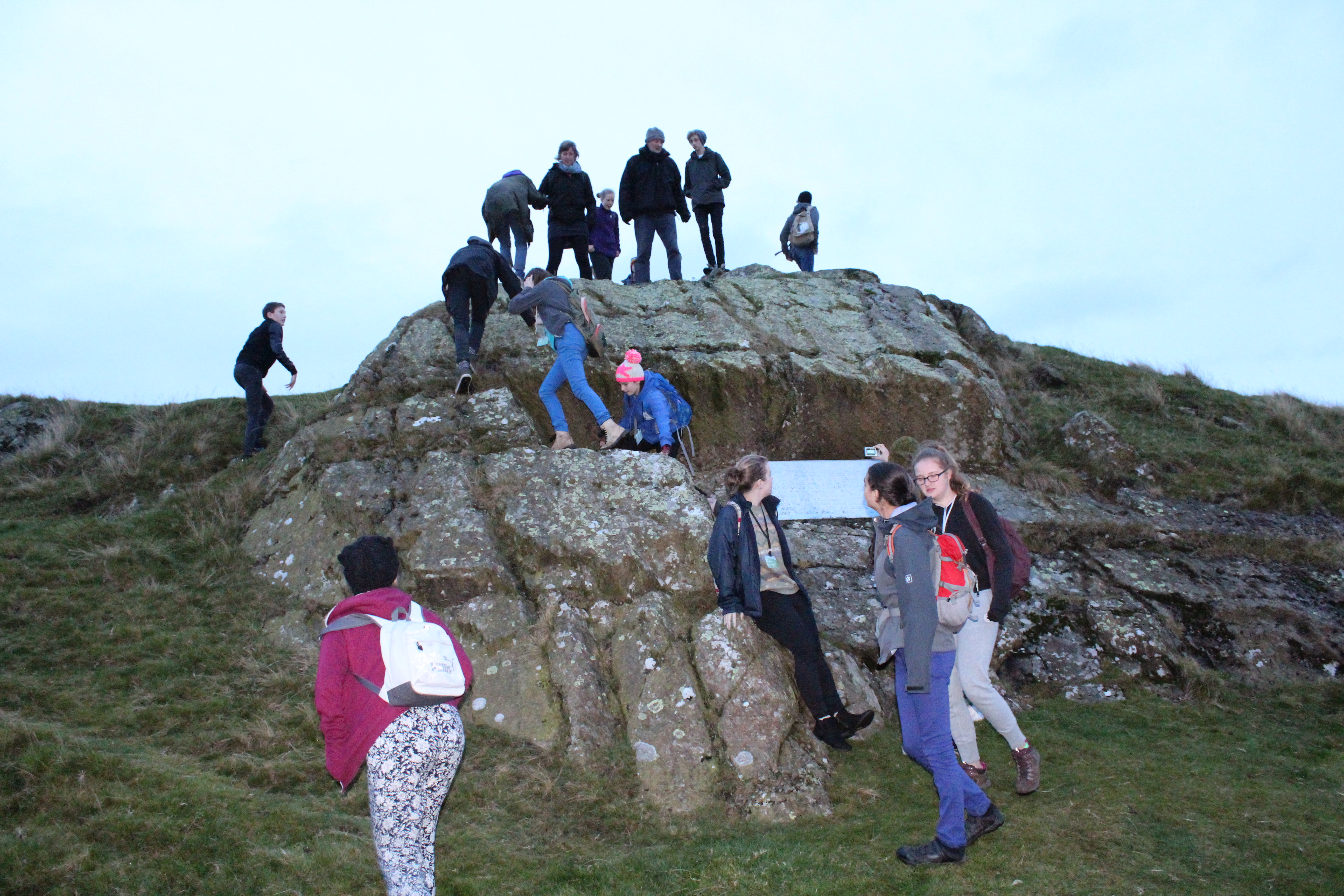 Young Quakers visit Pendle Hill