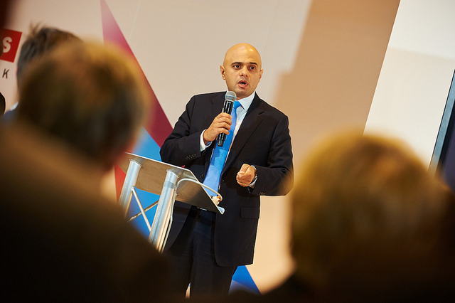 Sajid Javid and audience