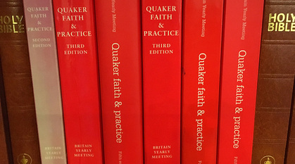 Quaker faith & practice books of various editions