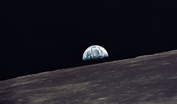 Planet Earth seen from the moon