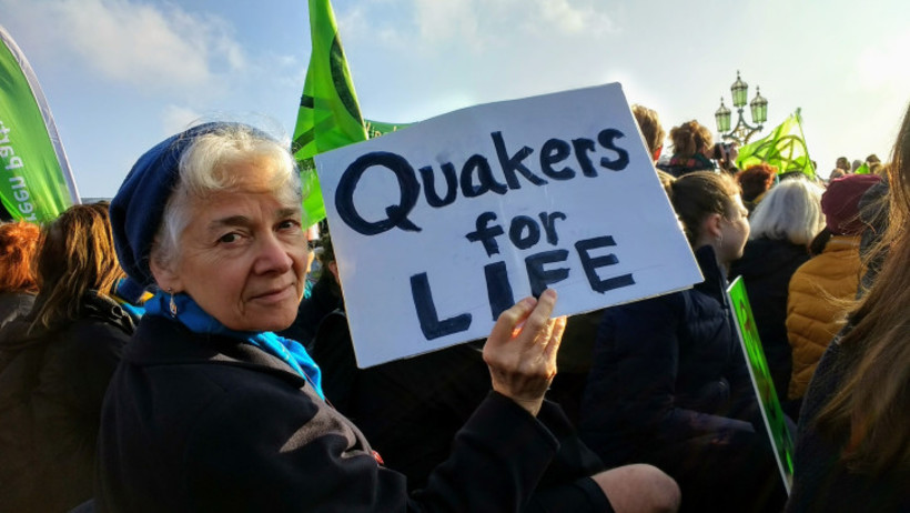 Quakers from across Britain have been getting involved in Extinction Rebellion actions. Photo: Bath Quakers.