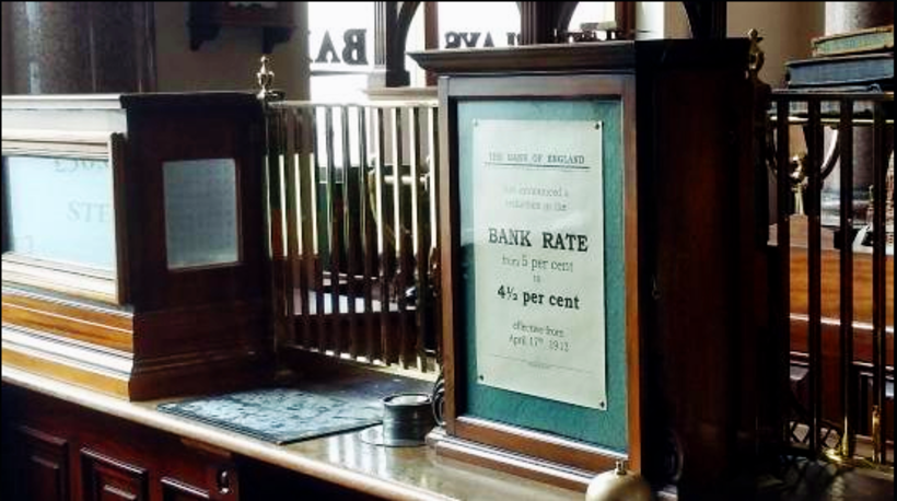 A Victorian Barclay's bank interior, Beamish Museum. Photo: Wikimedia Commons