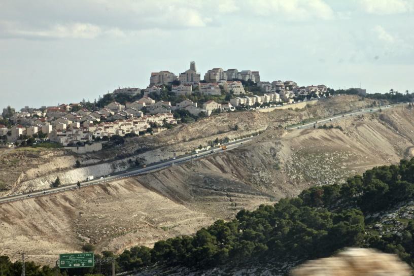 Israeli settlement on hilltop