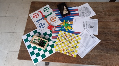 A selection of games on a table