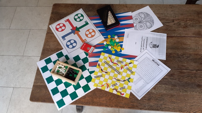 An 'in cell' pack containing games for prisoners. Image: Liz, Quaker prison chaplain
