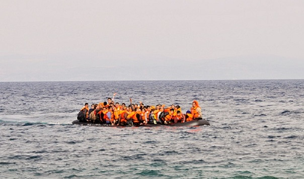 migrants risk perilous seas in overfull boat